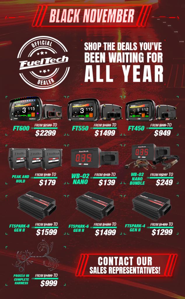 FuelTech Black November sale